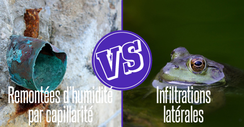 remontees humidite capillarite infiltrations laterales